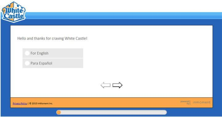 white-castle-survey language selection