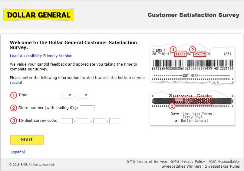 dollar general survey requirements