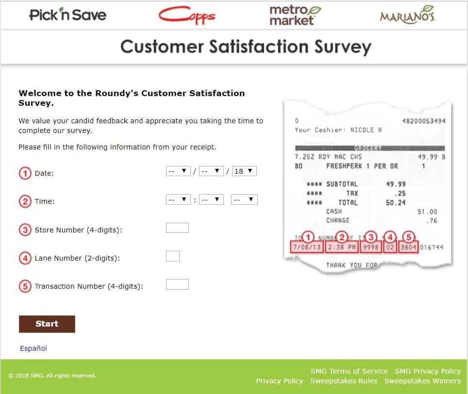 mariano's feedback survey