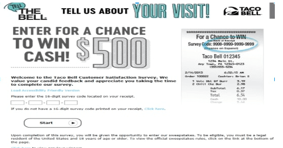 www.tellthebell.com sweepstakes
