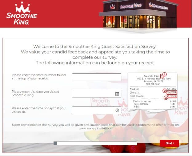 smoothie king feedback- guide