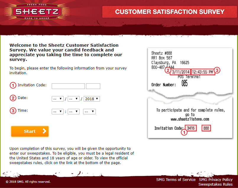 Sheetz-listens-survey-guide