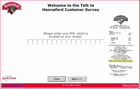 talktohannaford-survey