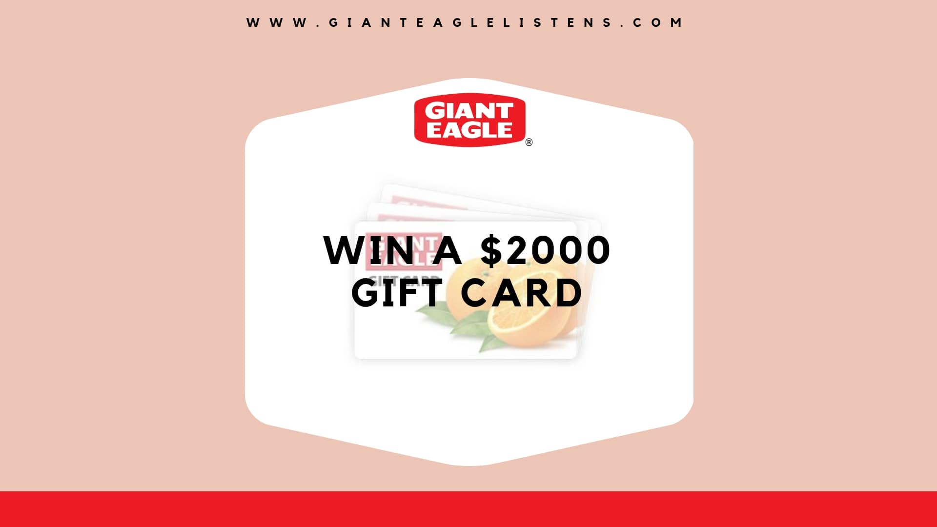 GiantEagleListens: Complete the Survey & Win $2,000 Giant Eagle Gift Card