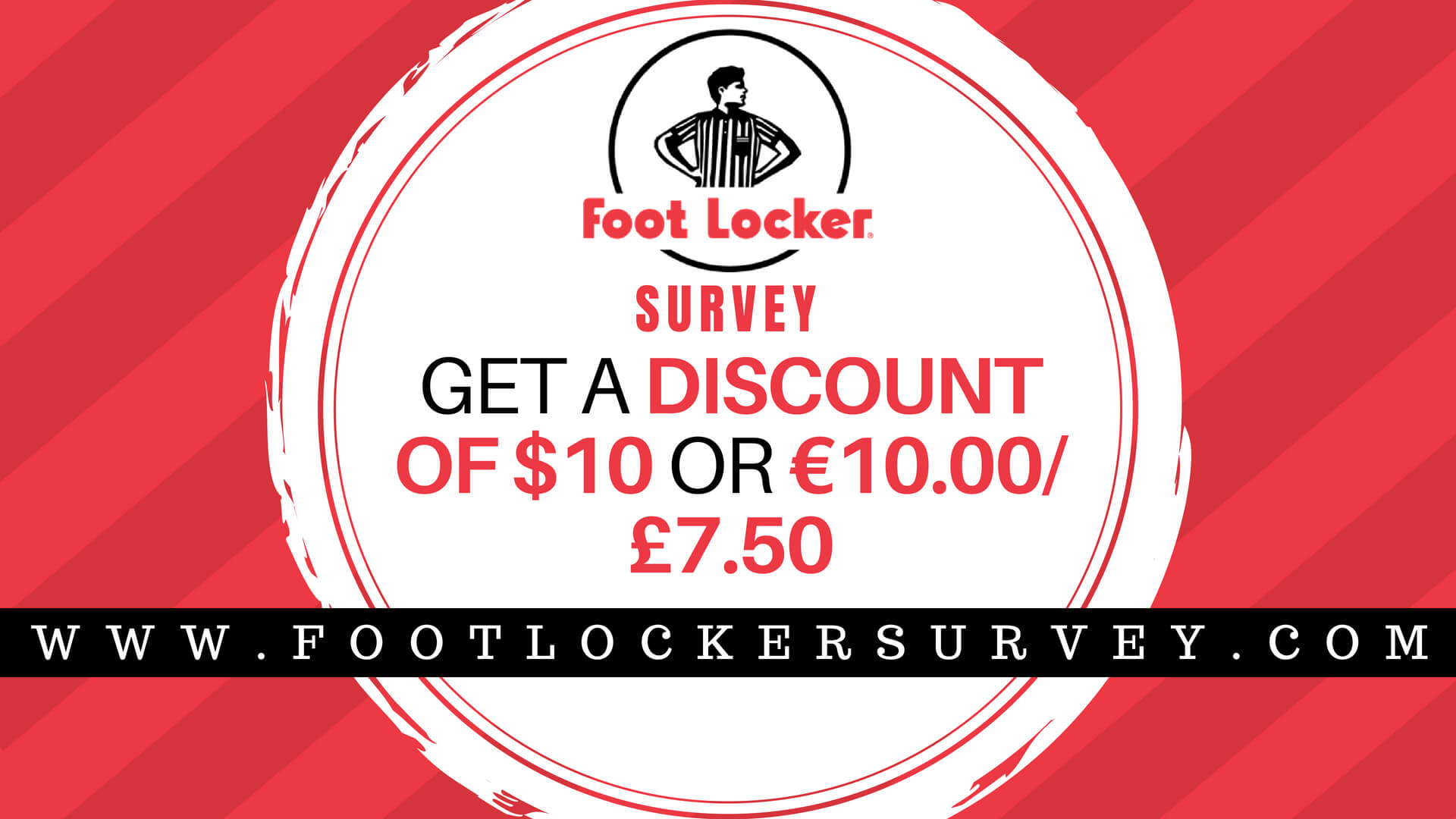 Foot locker Survey | Win $10 Discount Coupon at www.footlockersurvey.com