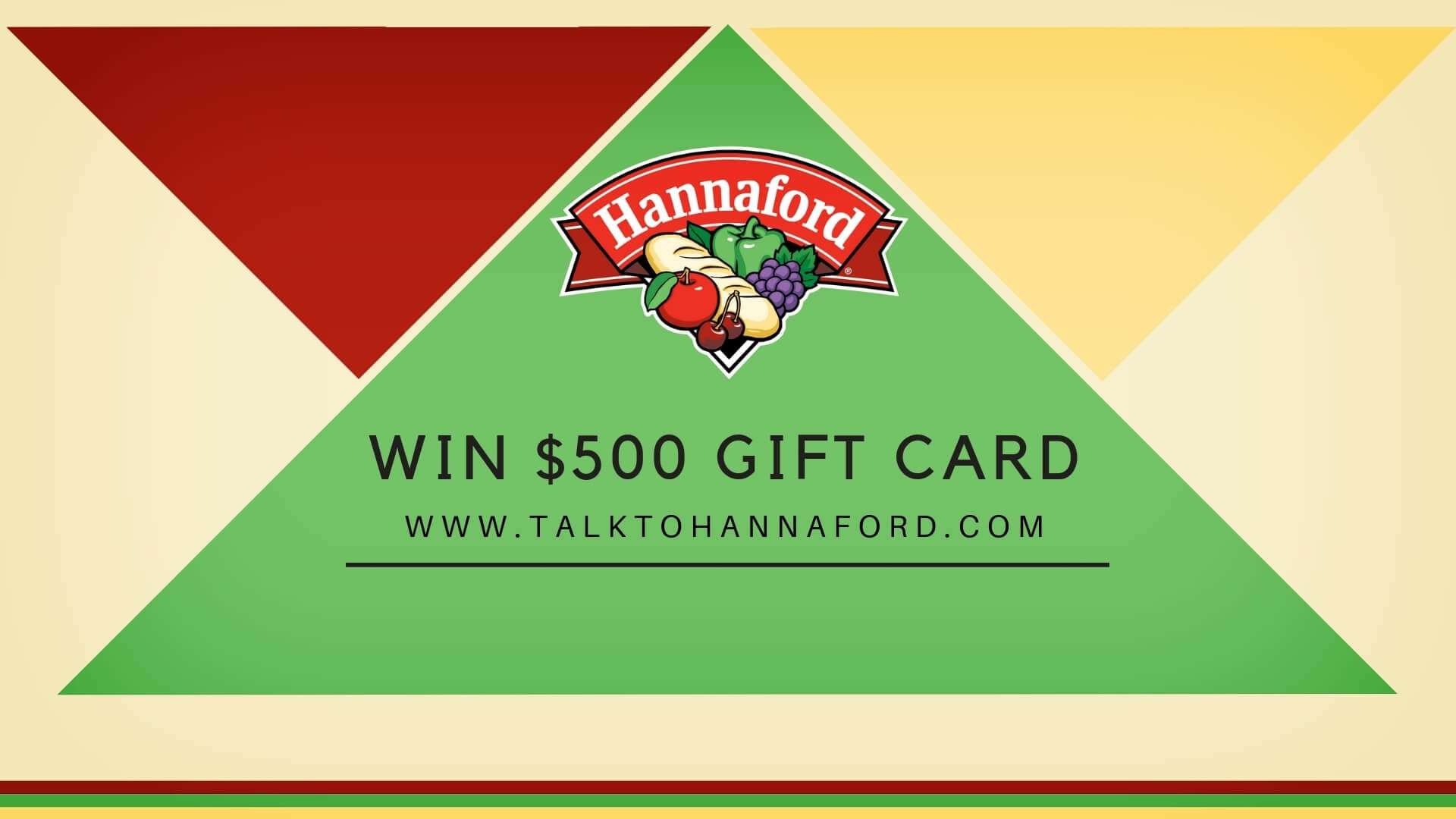 www.talktohannaford.com- Enter the Survey & Win $500 Gift Card