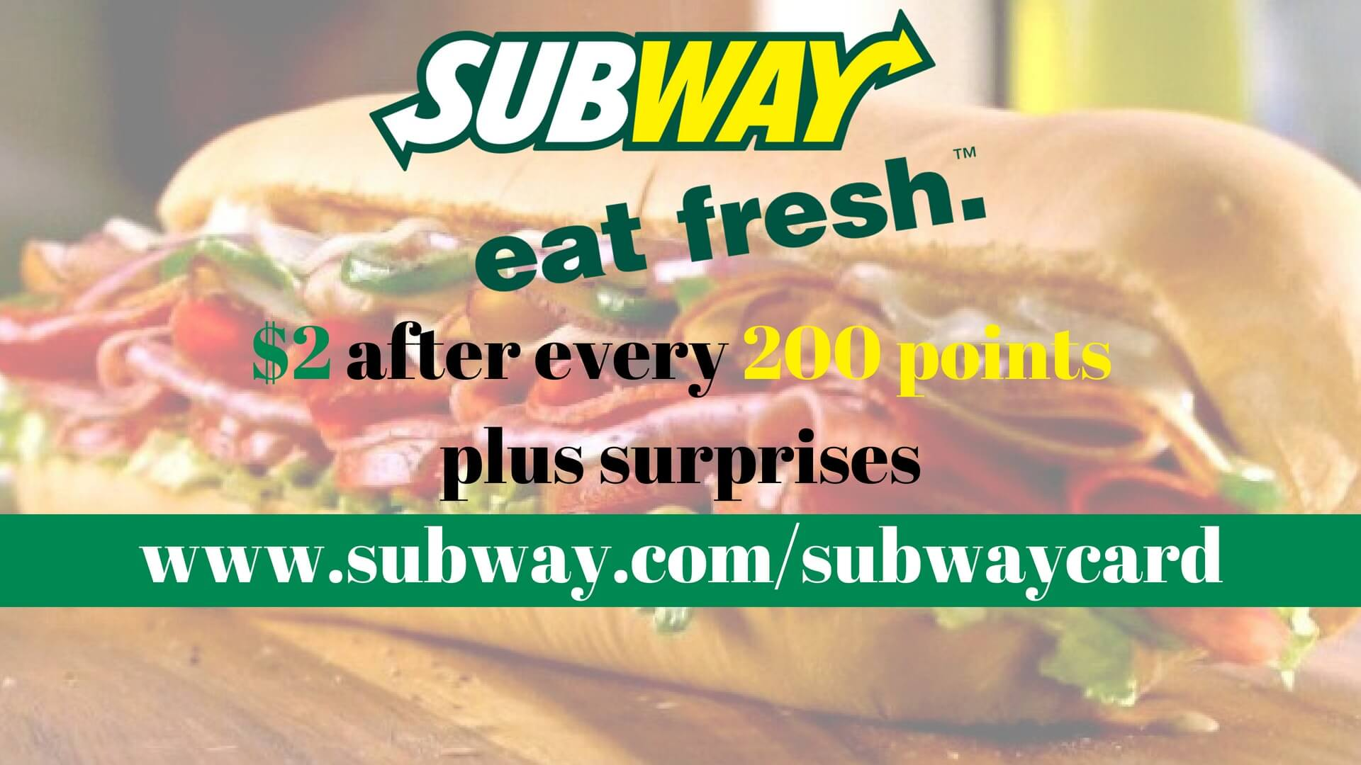 MySubwayCard | Sign up to Get $2 Discounts and Surprise Prizes