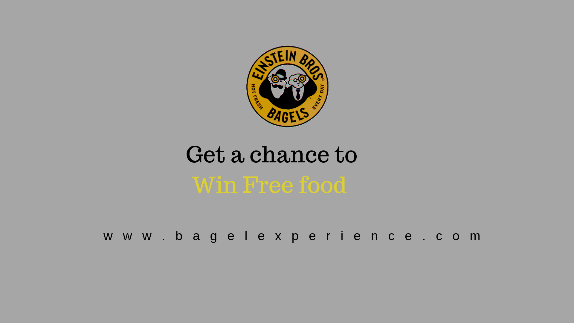 Einstein Bagel Survey - Get a Chance to win Free Food