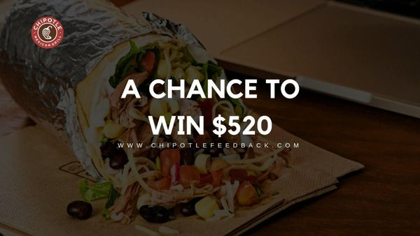 Chipotle Feedback Survey | Win FREE Burritos Worth $520 for An Year