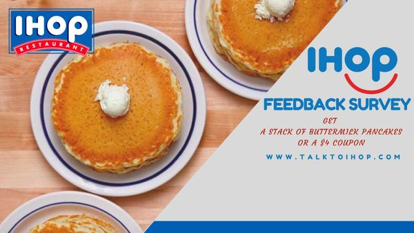 TalkToIHOP: TellIHop to get ihop survey free pancakes or COUPONS