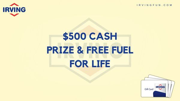 Irvingfun | irvingfun.com | Win $500 Cash Prize and Free Gas for Life