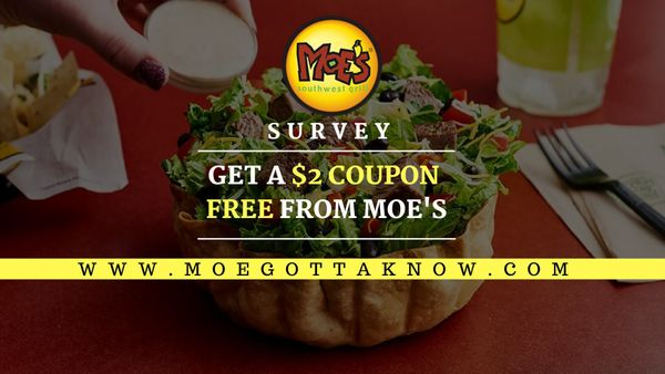 Moegottaknow survey | Take Moes Satisfaction Survey To Get $2 Discount
