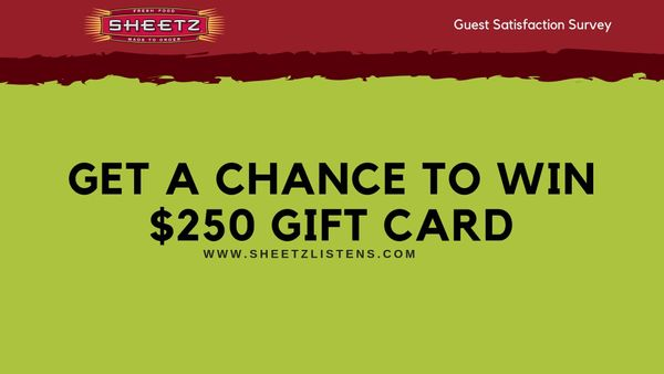 Sheetz Listens Feedback Survey: Win $250 Gift Card