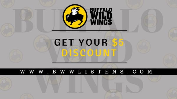 Bwwlistens | Get $5 Coupon by Completing Buffalo Wild Wings Survey