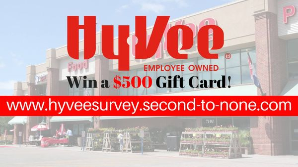 Hy Vee Survey | Win a $500 Gift Card by taking this Survey