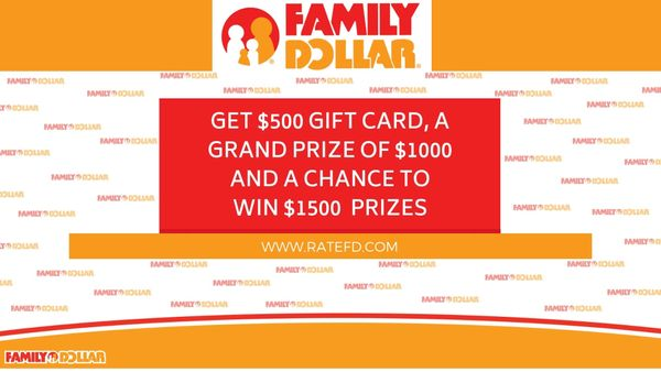 Ratefd | The Family Dollar Survey | Get a Chance to Win 500$ Gift Card