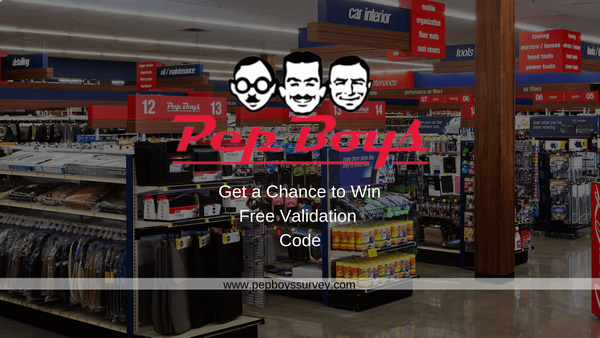 pepboyssurvey | Get a Chance to Win Validation Code