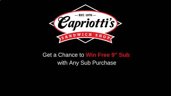 Tellcapriottis.com |  Get a Chance to Win Free 9″ Sub🌮